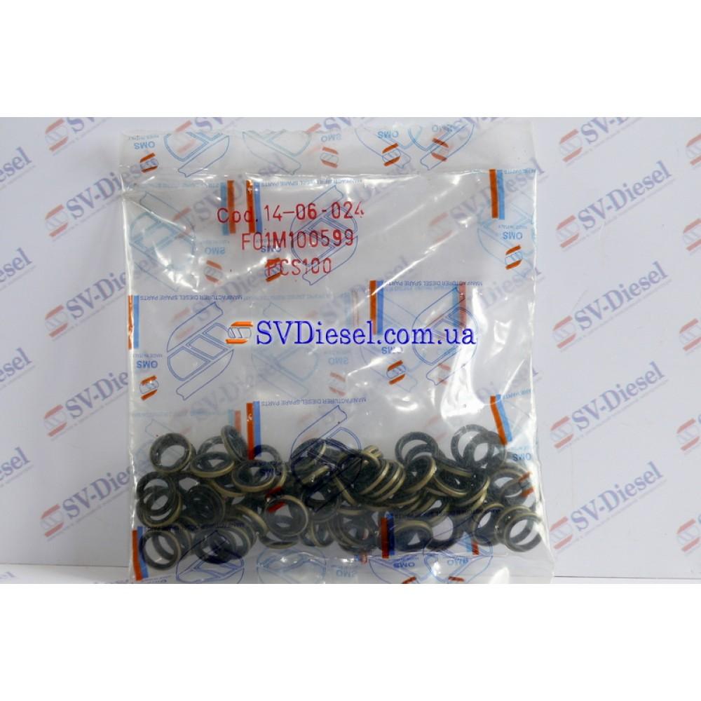 Купить Уплотнительное кольцо 14-06-024 (F 01M 100 085, F 01M 100 538) 7,50x10x2 в  Украине